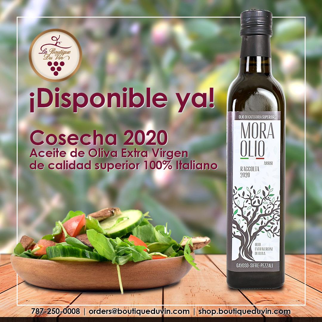 Mora Olio Cosecha 2020 está disponible en La Boutique du Vin.